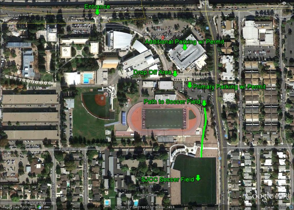 San Jose City College Map San Jose City College | Central Santa Clara Valley Youth Soccer San Jose City College Map